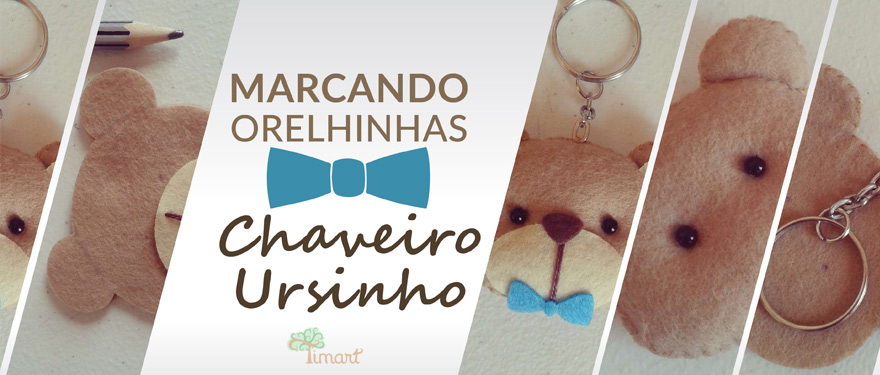 Marcando orelhinhas – Chaveiro Ursinho