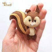 esquilo-princesa-sofia-feltro-molde-timart