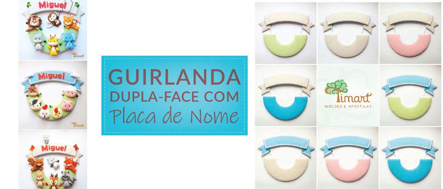 Guirlanda Dupla-Face com Placa de Nome