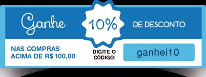 desconto de 10% nas compras acima de 100,00 reais