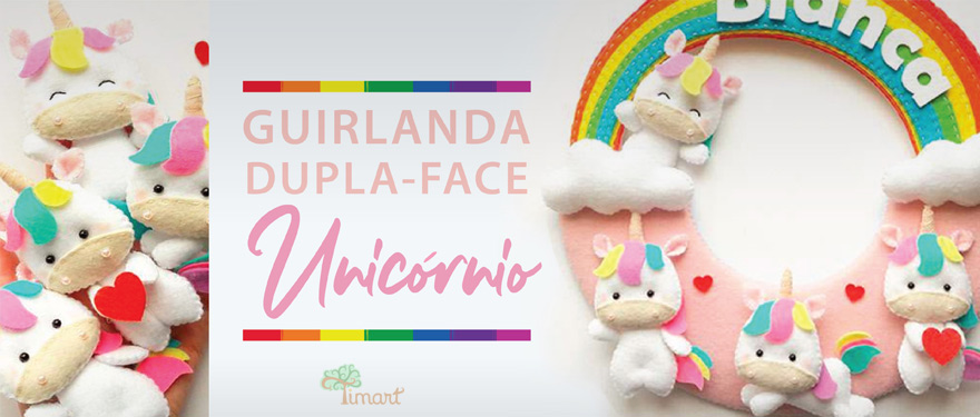 Guirlanda Dupla-Face Unicórnio