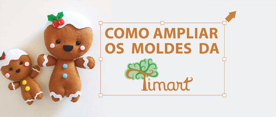 Como ampliar os moldes da Timart!