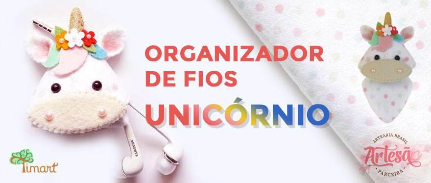 Organizador de fios – Unicórnio