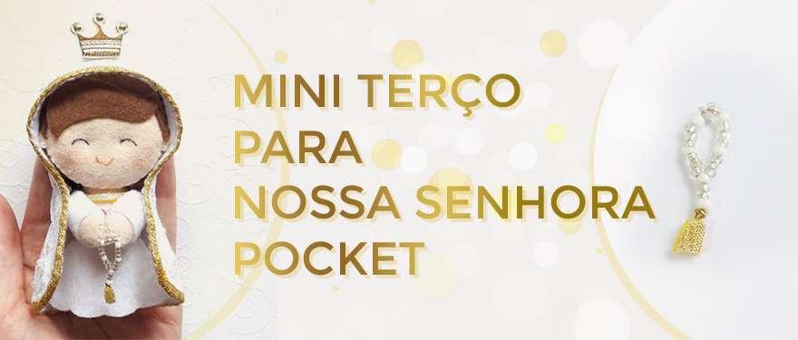 Mini terço para Nossa Senhora Pocket