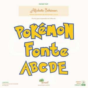 Arquivo Digital – Molde Letras Pokémon