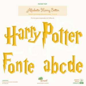 Arquivo Digital – Molde Letras Harry Potter