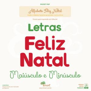 Arquivo Digital – Molde Letras Feliz Natal
