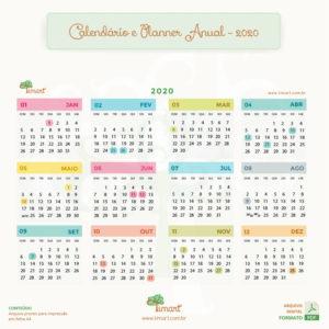 Arquivo Digital – Planner Anual, Mensal e Calendário 2020