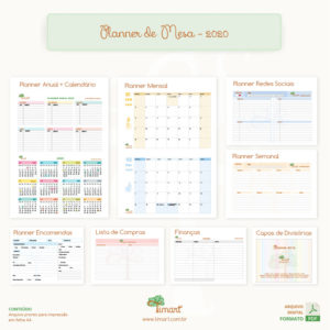 Arquivo Digital – Planner de Mesa A5 2020