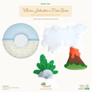 Arquivo Digital – Vulcão, Arbusto e Meia Base Guirlanda
