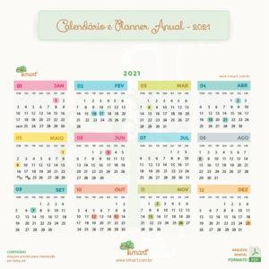 Arquivo Digital – Planner Anual, Mensal e Calendário 2021