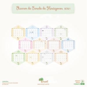 Arquivo Digital – Planner de Parede Hexágonos – 2021